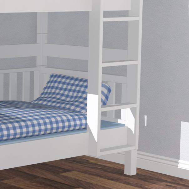 roomstar etagenbett weiss gerade leiter skandinavisches. Black Bedroom Furniture Sets. Home Design Ideas