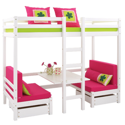 big king hochbett mit tisch und sitzb nken umbaubar zum g stebett dannenfelser kinderm bel. Black Bedroom Furniture Sets. Home Design Ideas
