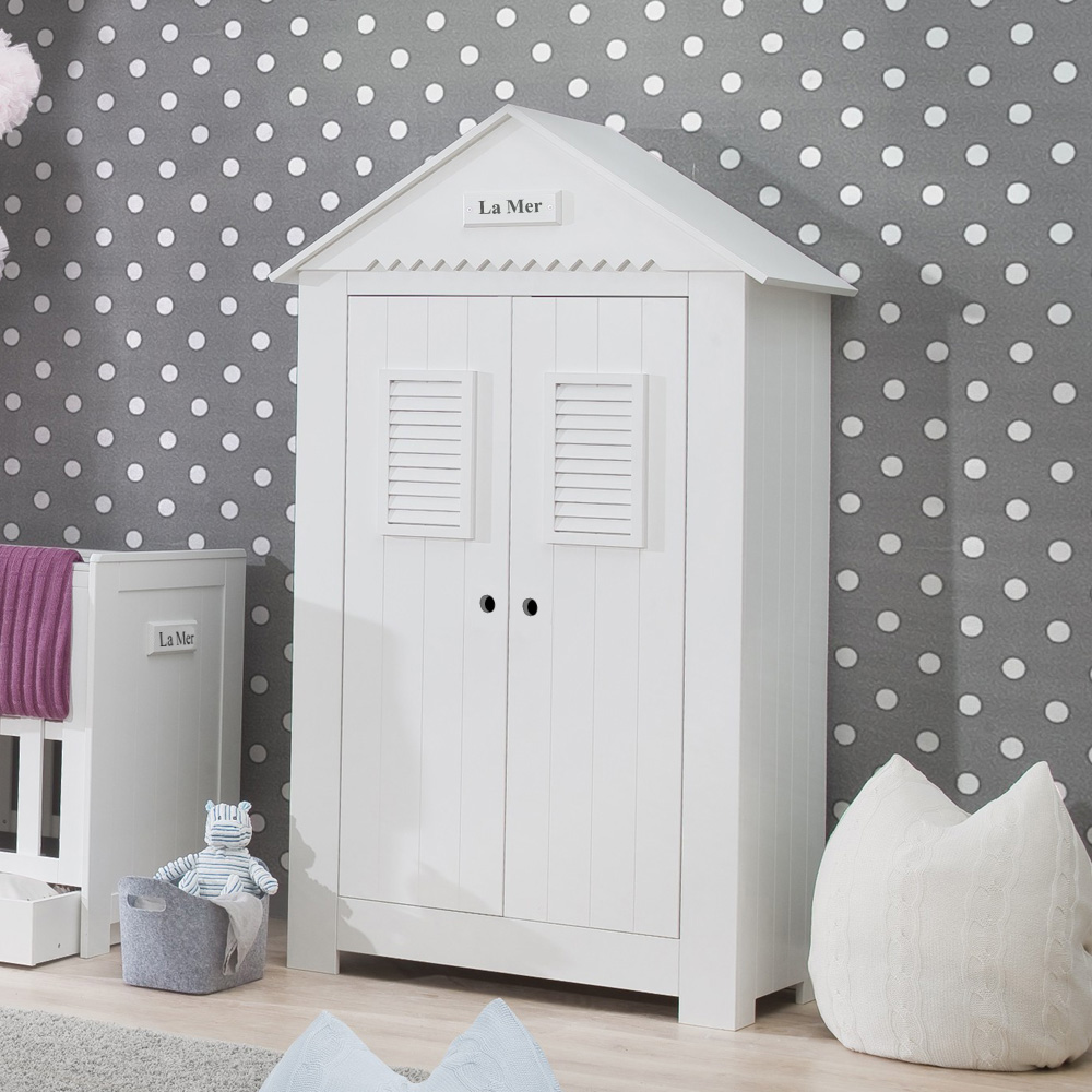Baby Komplettzimmer LA MER, 3-teilig, weiß | Dannenfelser | {Kinderschrank 31}
