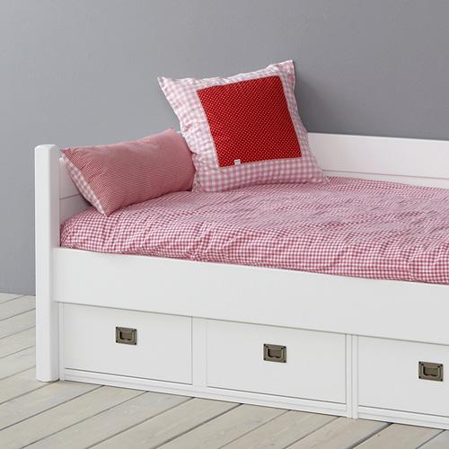 kinderm bel kojenbett kinderbett anna mit 4 schubladen massivholz wei 90x200cm ihr. Black Bedroom Furniture Sets. Home Design Ideas