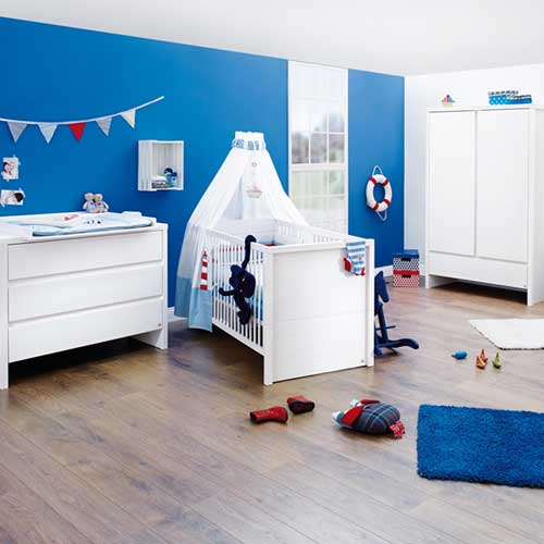 kinderzimmer aura, 3-tlg. massivholz fichte, weiß lasiert, Schlafzimmer design