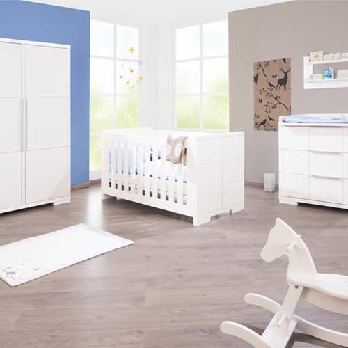 kinderzimmer polar, 3-tlg. edelmatt weiß, babybett, wickelkommode, Schlafzimmer design