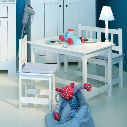 stabiler kindertisch la mer wei 78x55cm weiss dannenfelser kinderm bel. Black Bedroom Furniture Sets. Home Design Ideas
