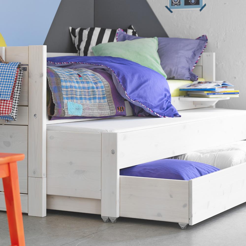 Kinderbett mit bettkasten  LIFETIME Kinderbett / Kojenbett mit Gästebett + Bettschublade ...