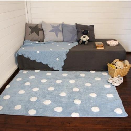 lorena canals kinderteppich punkte 100 baumwolle 120x160cm g nstig online kaufen. Black Bedroom Furniture Sets. Home Design Ideas