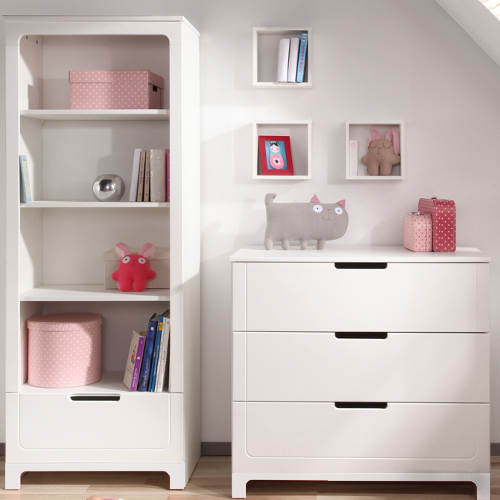 wickelkommode kommode inkl wickelaufsatz mini wei 3 schubladen dannenfelser kinderm bel. Black Bedroom Furniture Sets. Home Design Ideas