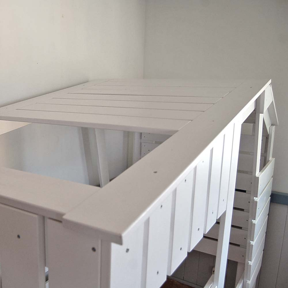 h ttenbett spielbett strandhaus weiss massivholz 90x200cm g nstig online kaufen. Black Bedroom Furniture Sets. Home Design Ideas