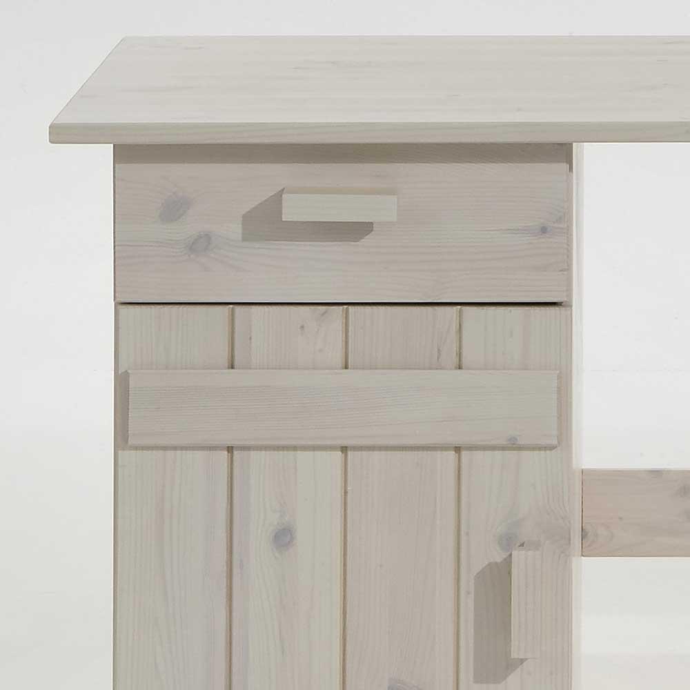 kinderschreibtisch holzschreibtisch emmi holz kiefer wei lasiert 125 x 60 cm dannenfelser. Black Bedroom Furniture Sets. Home Design Ideas
