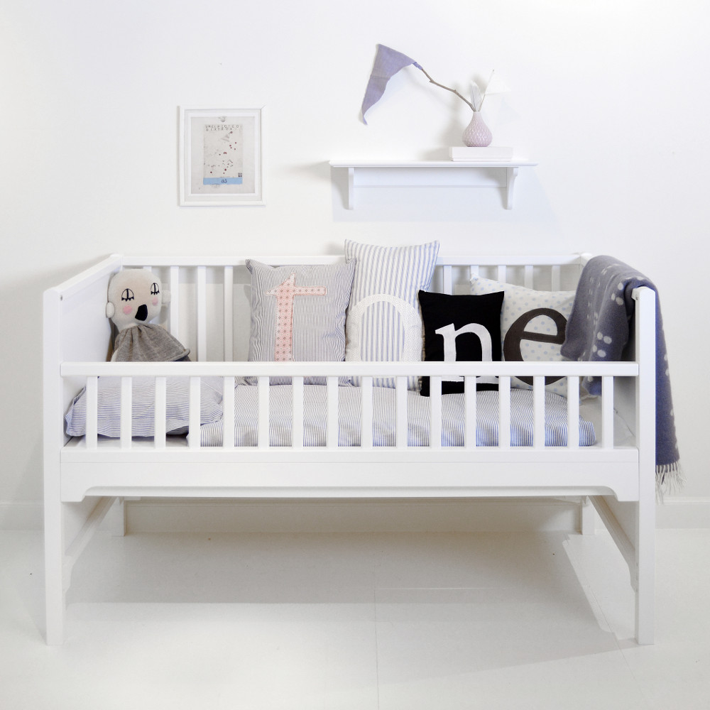 Oliver Furniture Babybett Gitterbett Kinderbett Kids Weiß