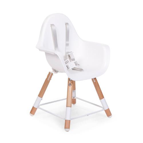 childwood 2in1 design kinderhochstuhl evolu 2 holz wei dannenfelser kinderm bel. Black Bedroom Furniture Sets. Home Design Ideas