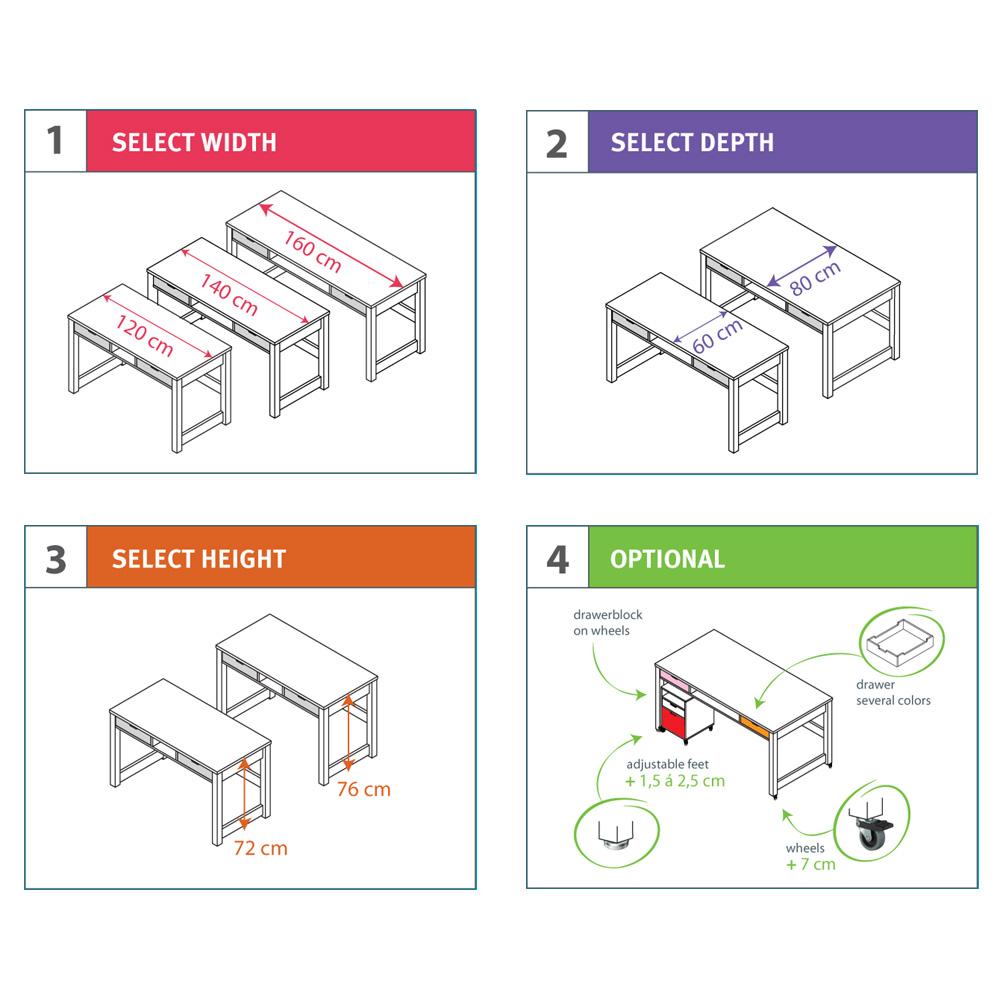 bopita h henverstellbare f e f r kinderschreibtisch mix. Black Bedroom Furniture Sets. Home Design Ideas