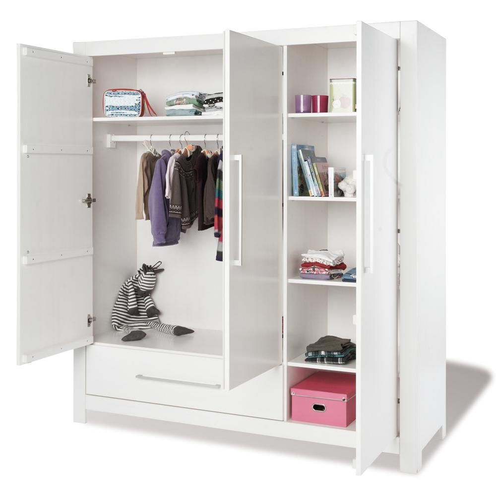 kleiderschrank puro pinolino 3 t rig 1 schublade wei fichte softclose dannenfelser. Black Bedroom Furniture Sets. Home Design Ideas