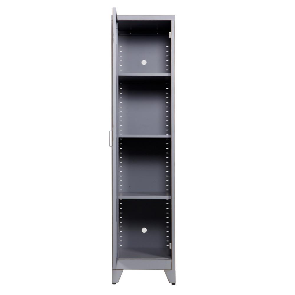 Kleiderschrank / Spind MAX, 1-türig, Metall, grau | Dannenfelser