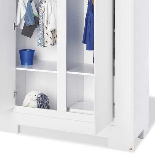 kinderkleiderschrank kleiderschrank sky hochglanz wei 2 t rig g nstig online kaufen. Black Bedroom Furniture Sets. Home Design Ideas
