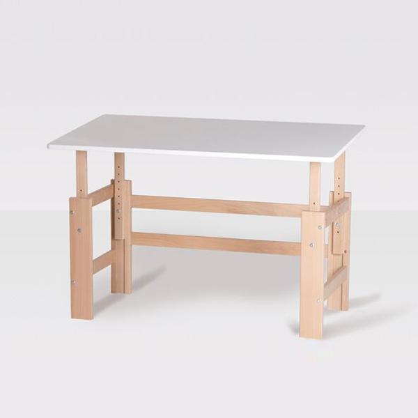 Kinderschreibtisch design höhenverstellbar  MANIS-H Schreibtisch / Holzschreibtisch, Weiß-Buche ...