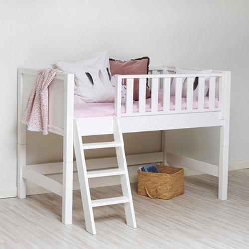 sanders halbhohes bett fanny cabin mit himmelaufsatz. Black Bedroom Furniture Sets. Home Design Ideas
