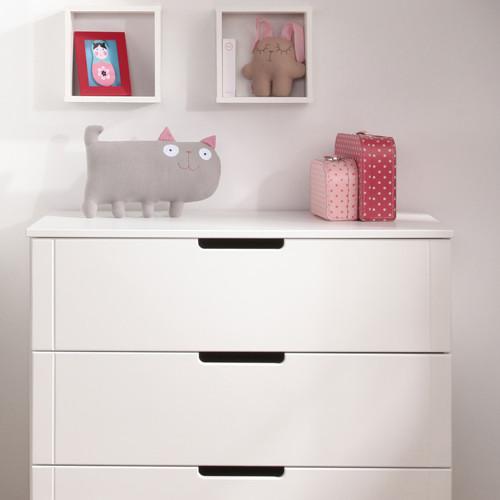 wickelkommode kommode inkl wickelaufsatz mini wei 3 schubladen dannenfelser kinderm bel. Black Bedroom Furniture Sets. Home Design Ideas