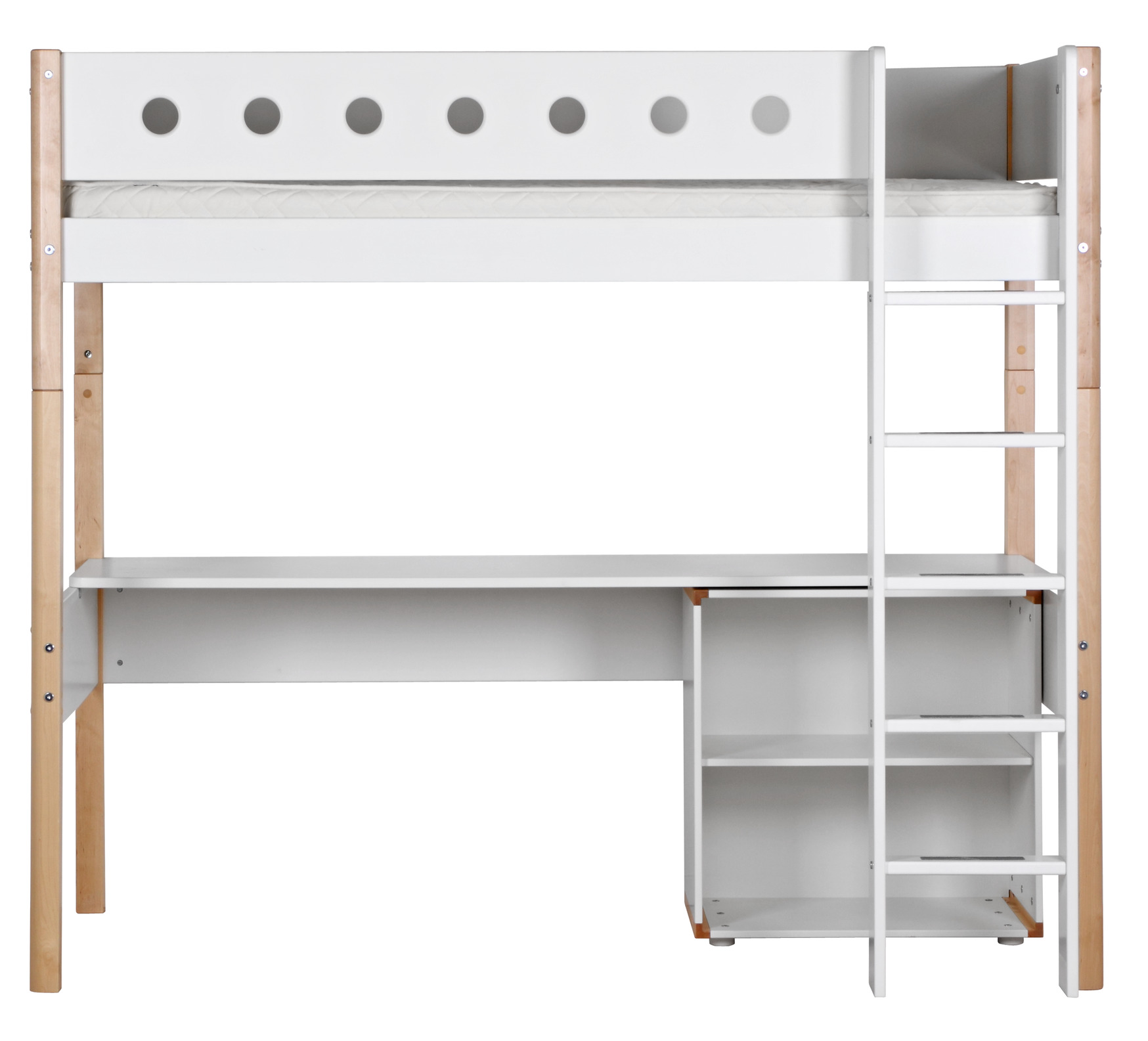 flexa white hochbett 90 x 190 cm h he 184 cm dannenfelser. Black Bedroom Furniture Sets. Home Design Ideas
