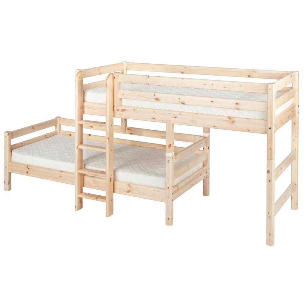 flexa kombi etagenbett classic holz umbaubar 90x200cm dannenfelser kinderm bel. Black Bedroom Furniture Sets. Home Design Ideas