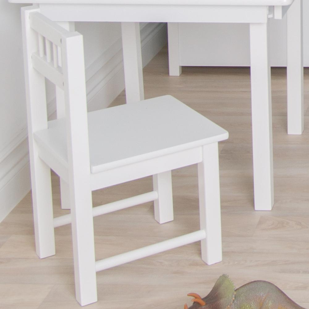 Hellgrau Weiß Und Holz Sind Erfrischend Natürlich: Holz Kinderstuhl Weiß 28x30x50cm Von JaBaDaBaDo