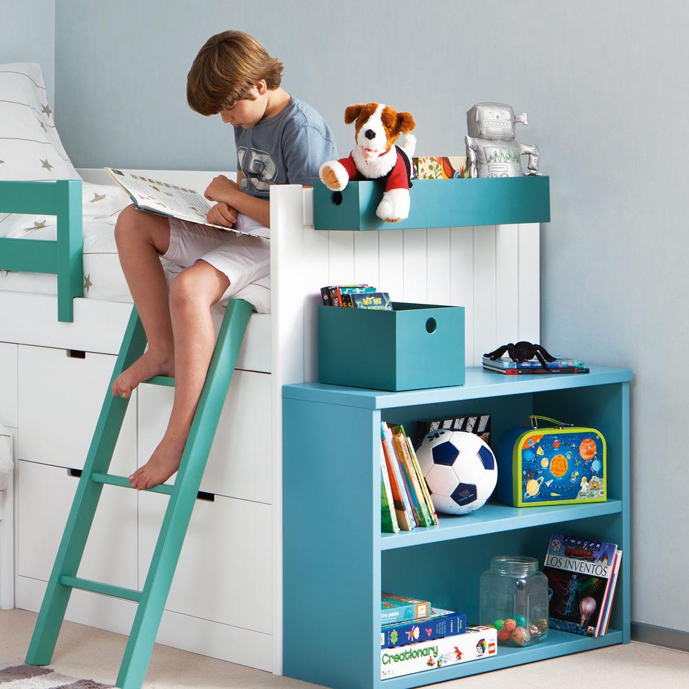 asoral hochbett block bahia mit stauraum massivholz 20 farben zur auswahl dannenfelser. Black Bedroom Furniture Sets. Home Design Ideas