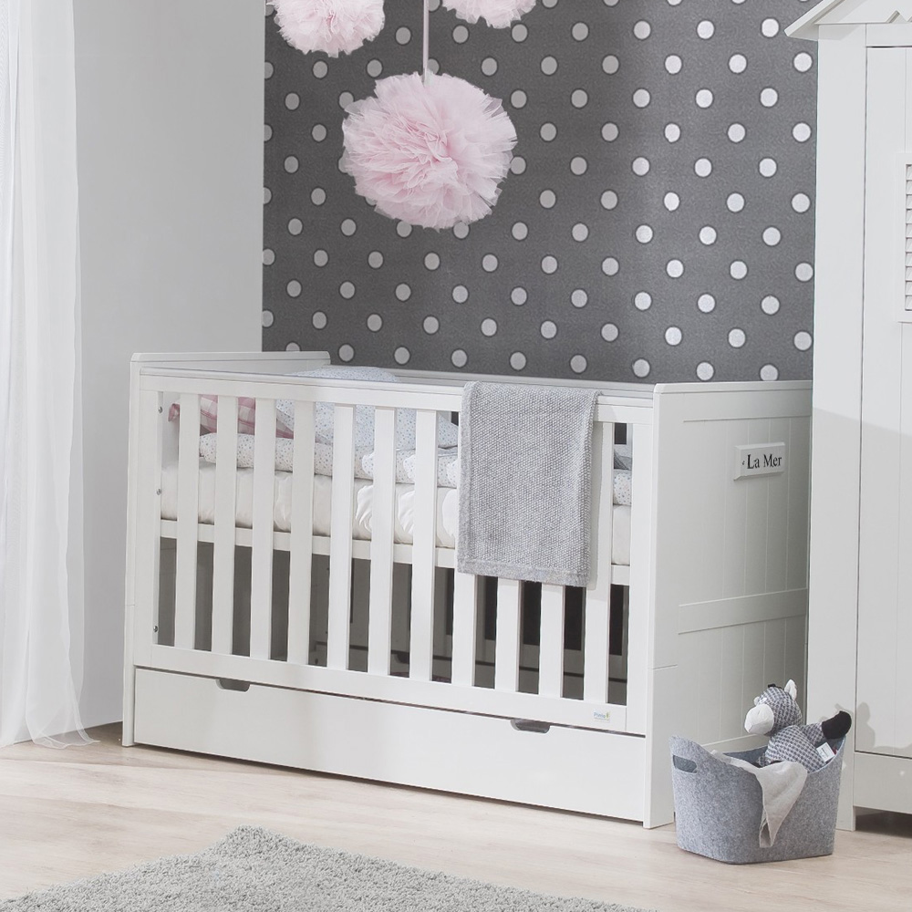 bettschublade bettkasten f r babybett la mer. Black Bedroom Furniture Sets. Home Design Ideas
