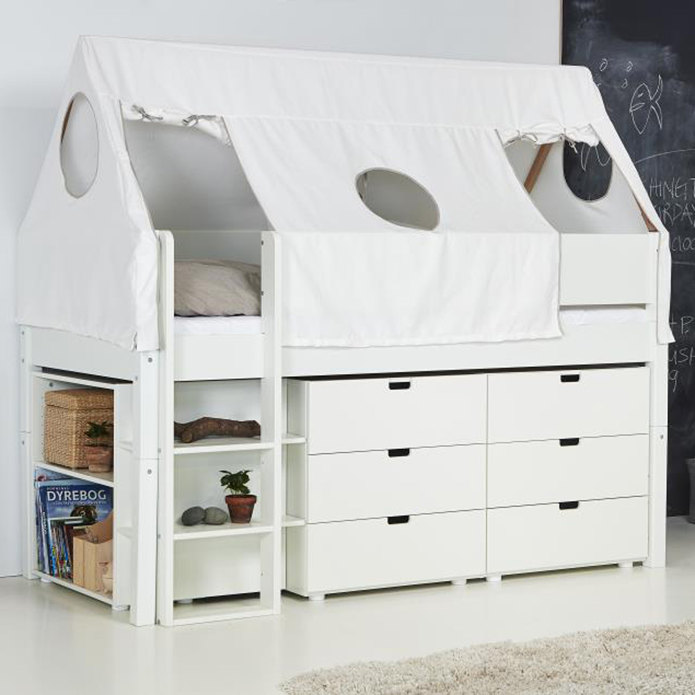 manis h kinderbett odin mit rausfallschutz himmel zelt sky dannenfelser kinderm bel. Black Bedroom Furniture Sets. Home Design Ideas