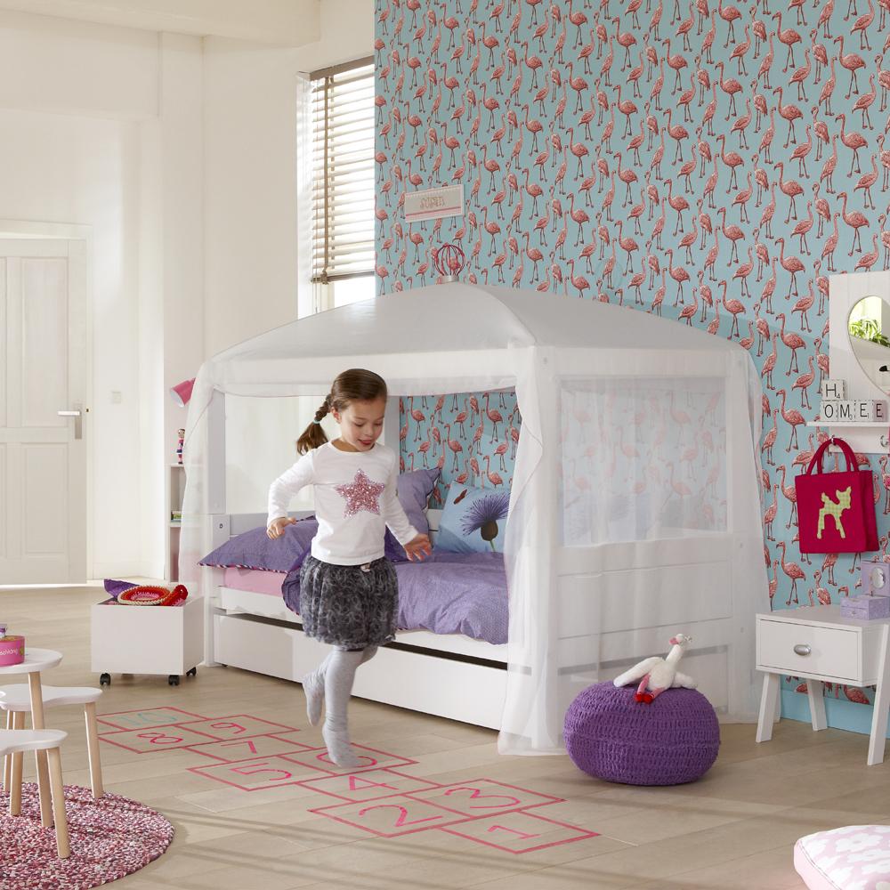 lifetime 4 in 1 kinderbett hochbett himmelbett. Black Bedroom Furniture Sets. Home Design Ideas