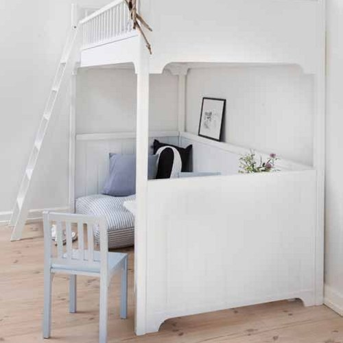 oliver furniture hochbett loft bett kids wei 90x200cm h he 176cm dannenfelser kinderm bel. Black Bedroom Furniture Sets. Home Design Ideas