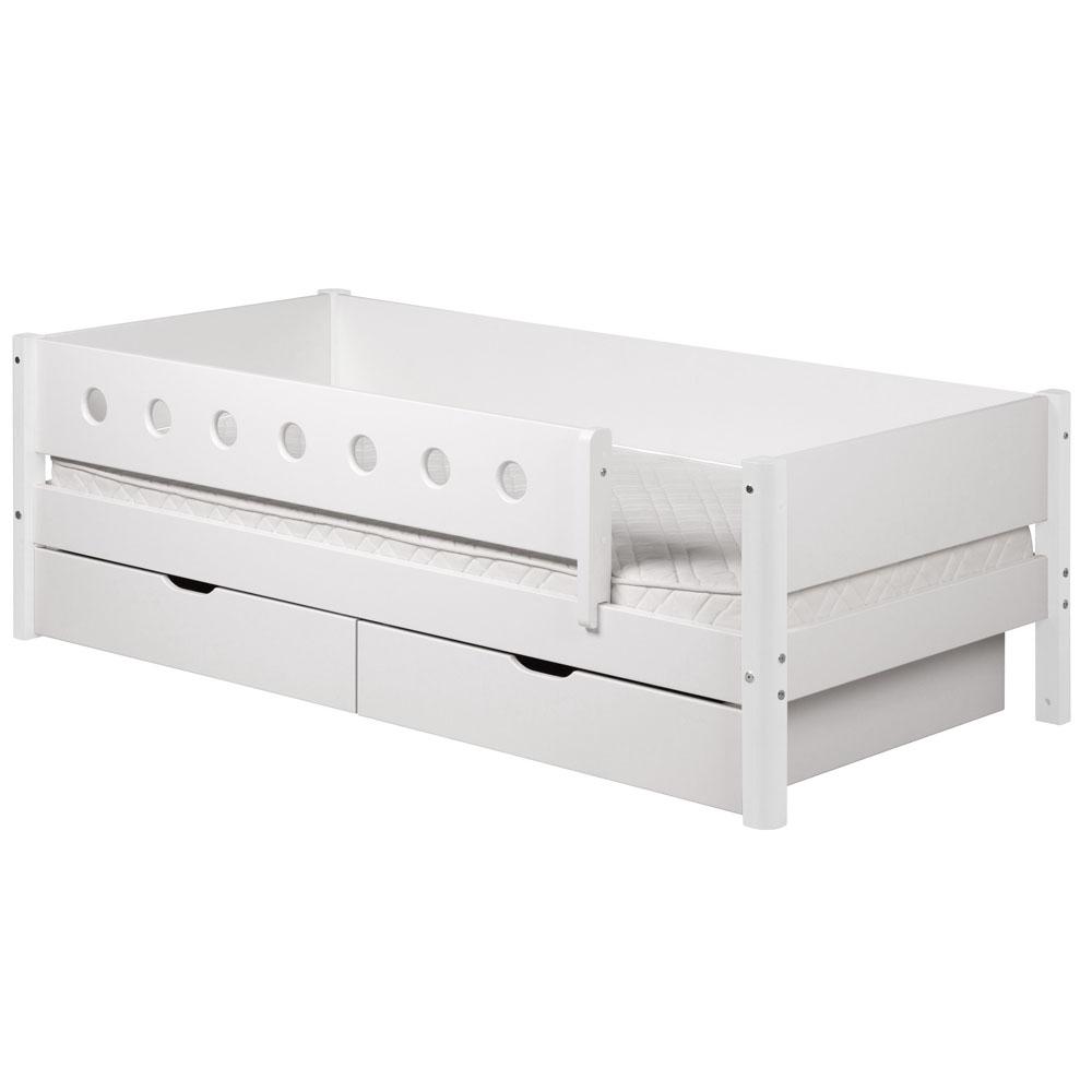Flexa Halbhohes Hochbett White Holz Weiß Umbaubar 90x200cm Höhe