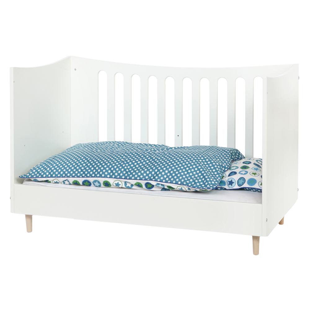 babybett gitterbett vivien 70x140cm umbaubar zum. Black Bedroom Furniture Sets. Home Design Ideas