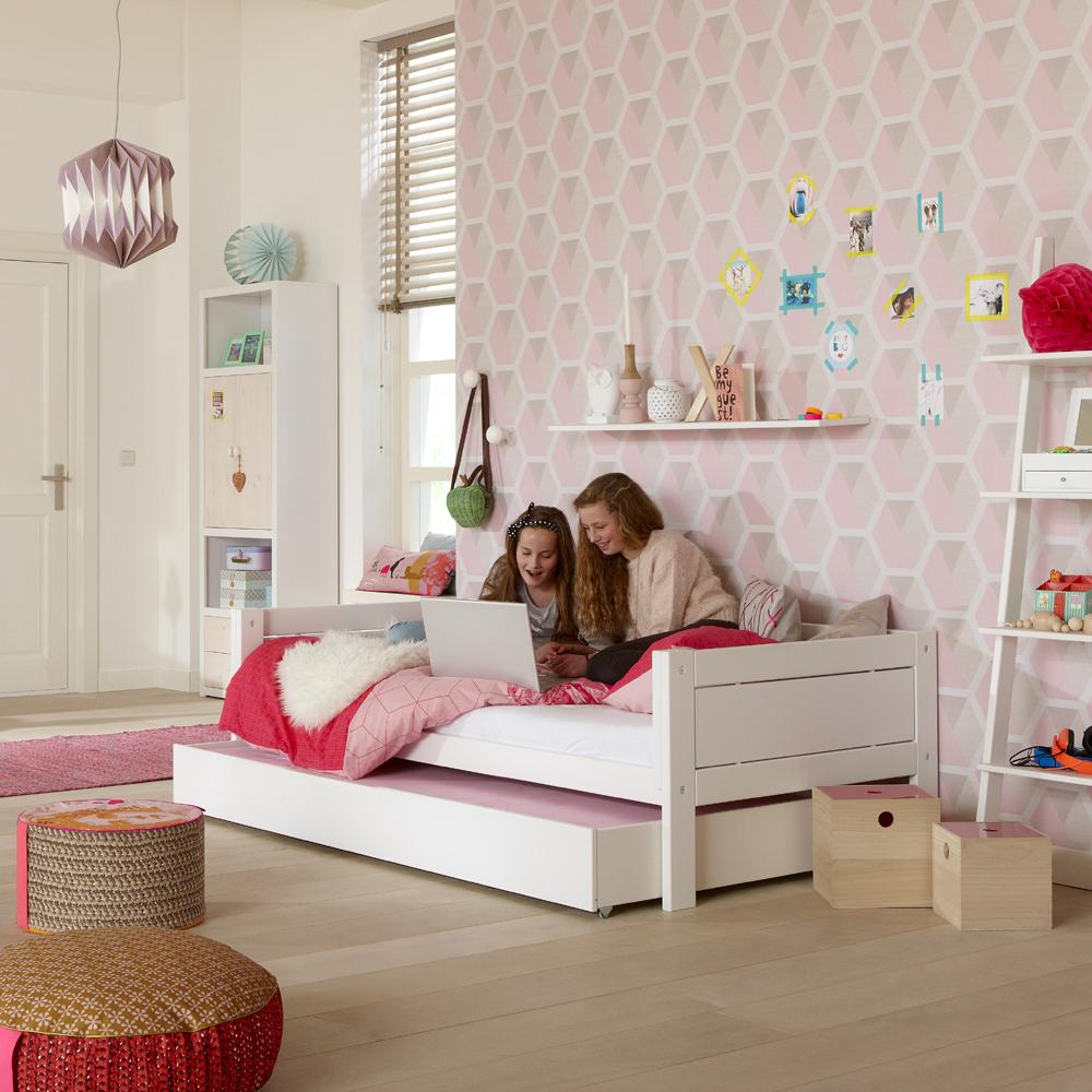 lifetime 4 in 1 kinderbett hochbett himmelbett jugendbett massivholz 90x200cm g nstig. Black Bedroom Furniture Sets. Home Design Ideas