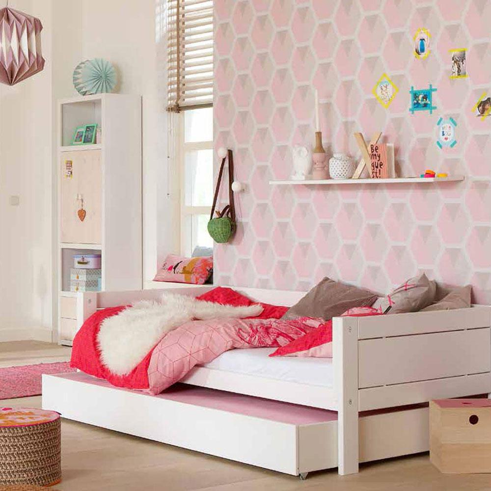 lifetime ausziehbett g stebett wei inkl lattenrost. Black Bedroom Furniture Sets. Home Design Ideas