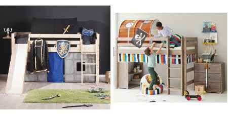 kinderbetten jungs m dchen haus rutsche. Black Bedroom Furniture Sets. Home Design Ideas