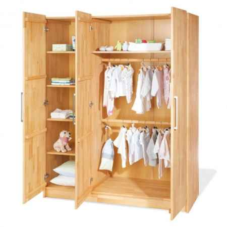 Kinder-Kleiderschrank Massivholz