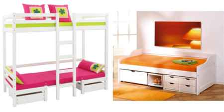 multifunktionsbetten f r kinder jugend babys dannenfelser kinderm bel seite 2. Black Bedroom Furniture Sets. Home Design Ideas